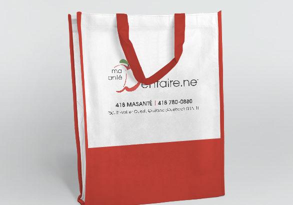 Impression sur sacs promotionnels pour la clinique dentaire Pierre Martin