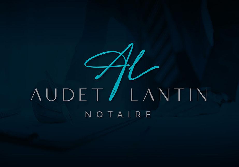 Conception graphique du logo de Audet-Lantin, Notaire