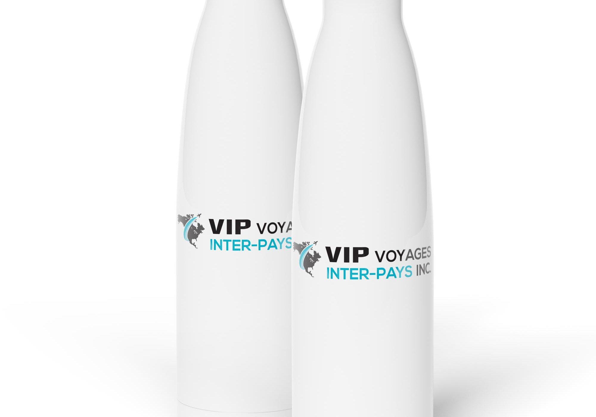 Impression sur bouteilles promotionnelles pour Voyage inter-pays