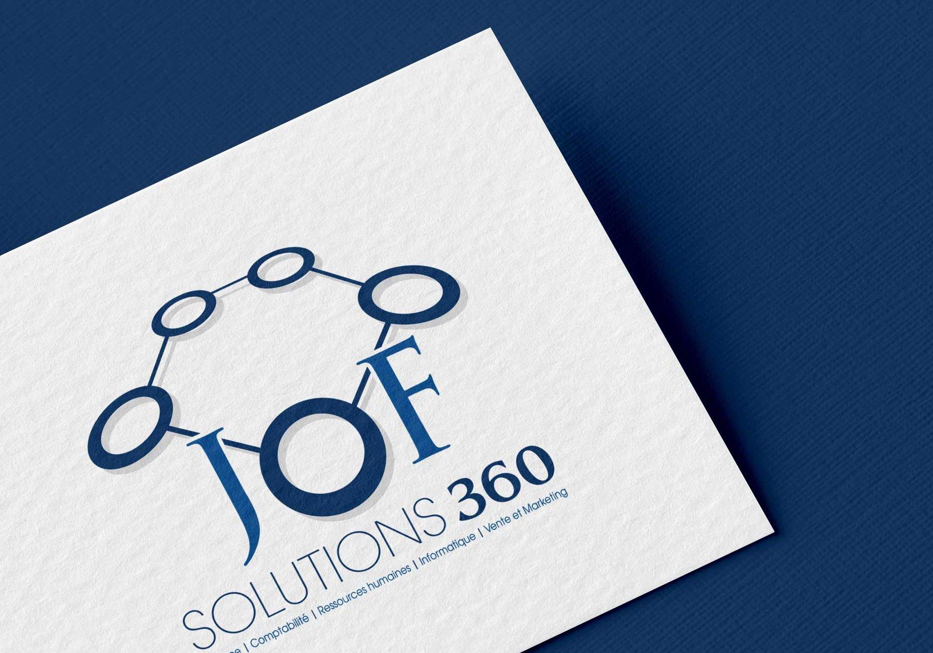 Conception graphique du logo de JOF Solutions 360