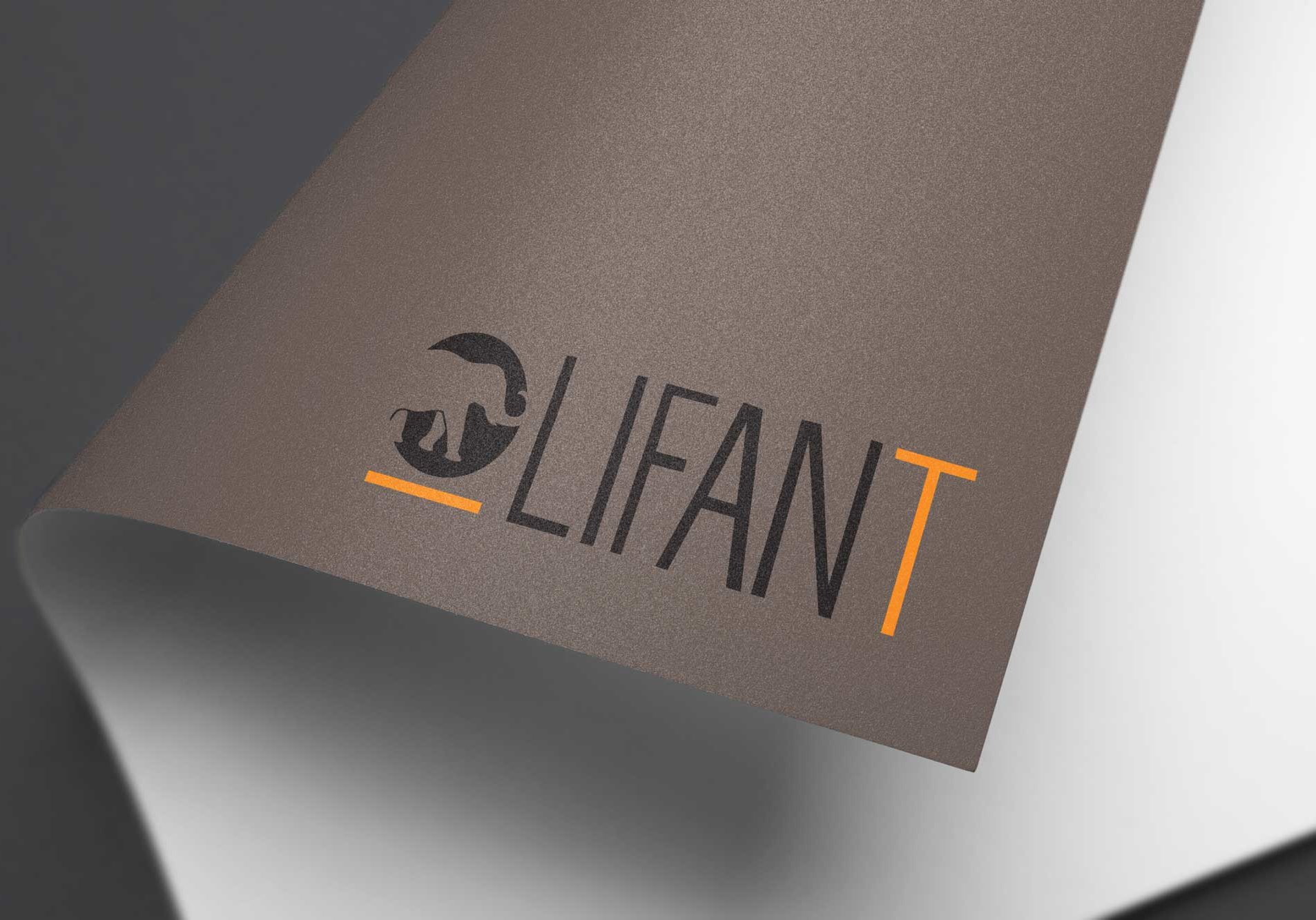 Conception graphique du logo de Olifant