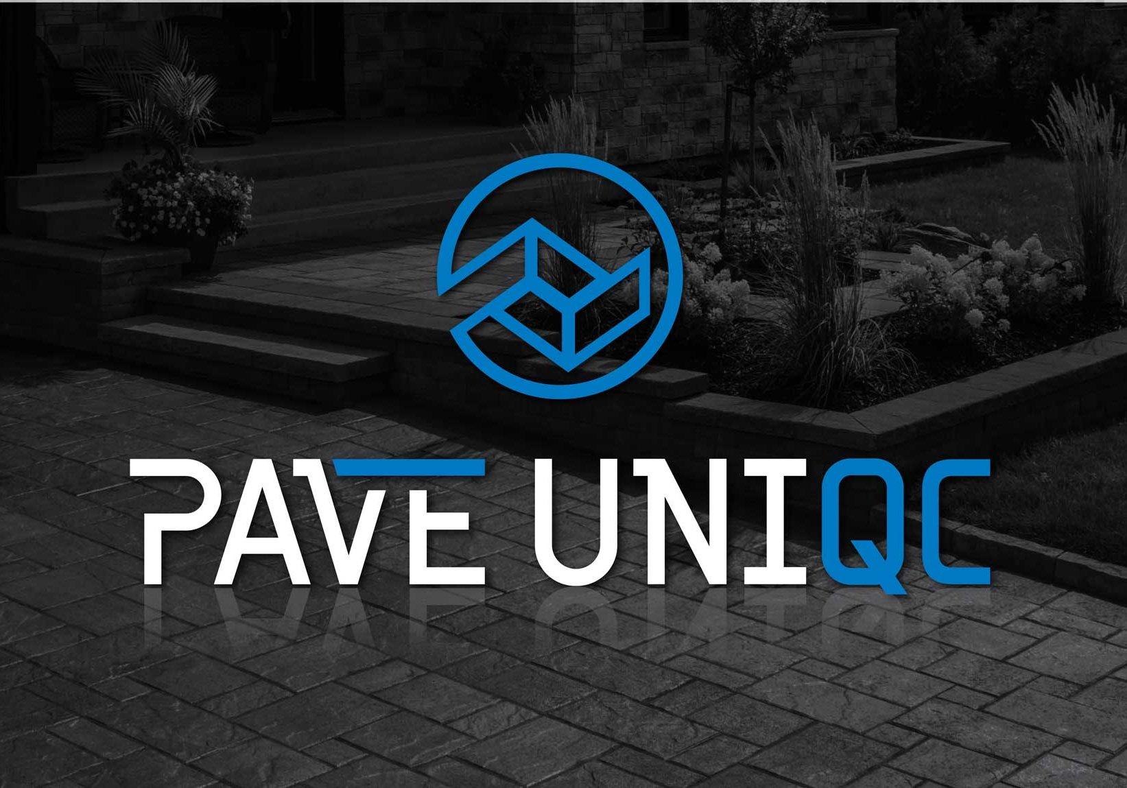 Conception graphique du logo de Pavé Uniqc