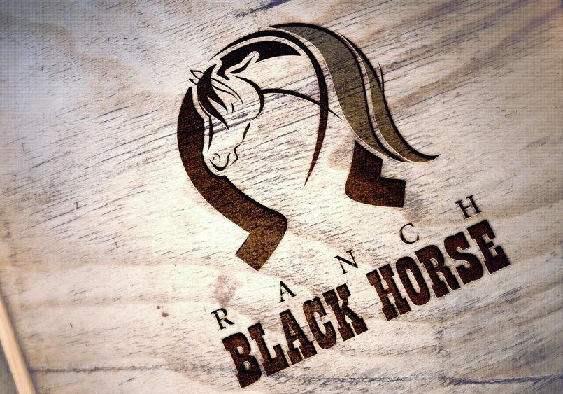 Conception graphique du logo de Ranch Black Horse