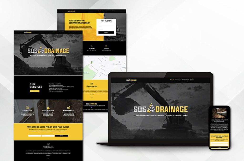 Conception et réalisation d'un site internet WordPress de 4 pages pour SOS Drainage
