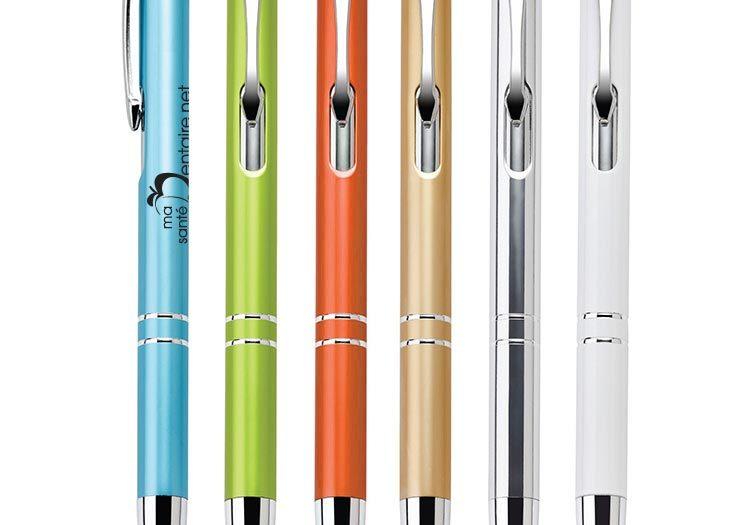 Impression sur stylos promotionnels pour la clinique dentaire Pierre Martin