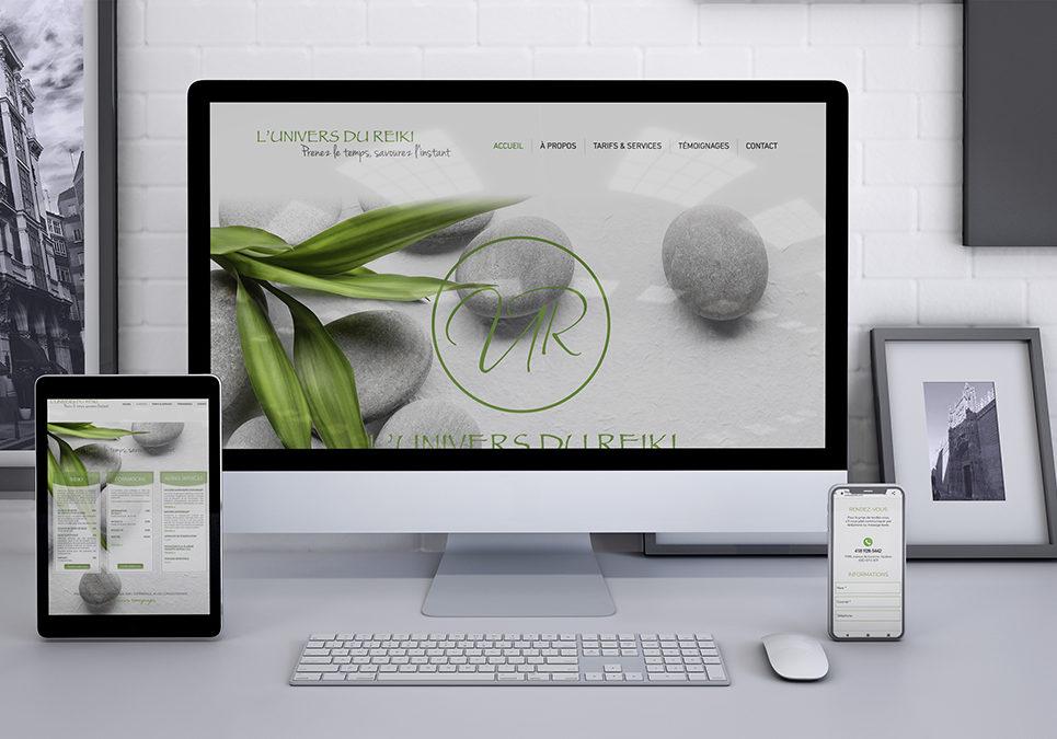 Conception et réalisation du site web de l'Univers du Reiki