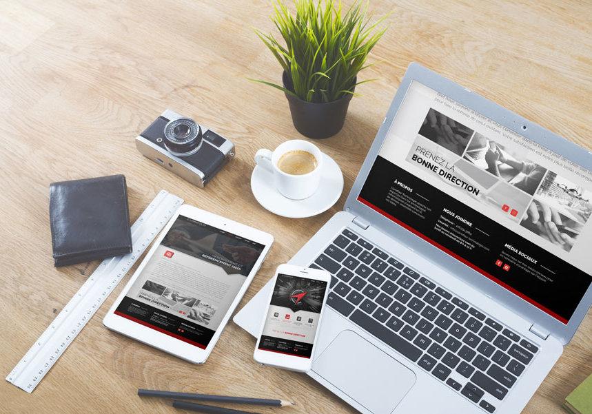 Conception et réalisation du site web de Carrefour technologie